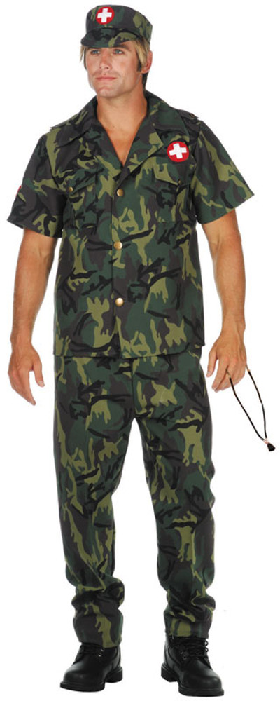 Adult Plus Size Army Doctor Costume