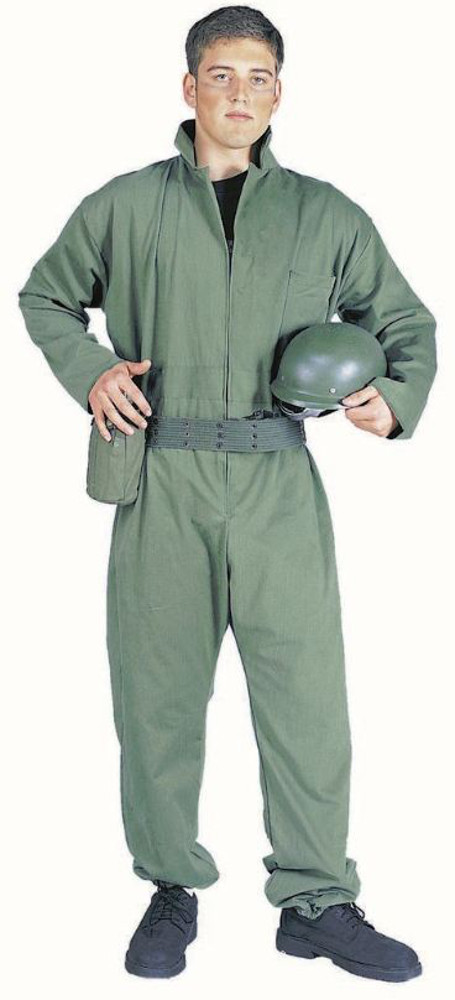 Adult Plus Size Army Jumpsuit Costume