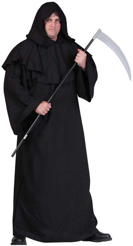 Adult Plus Size Black Robe Costume