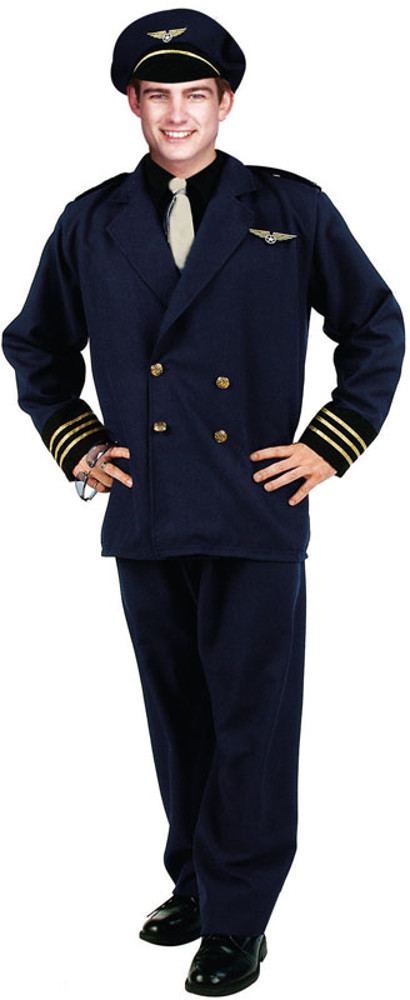 Adult Plus Size Flight Captain Costume