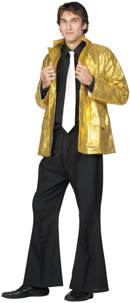 Adult Plus Size Gold Record Groove Costume