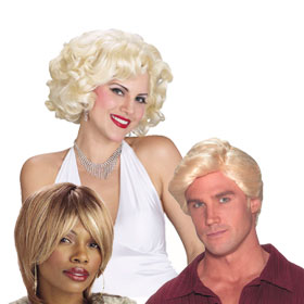 Adult Short Blonde Wigs