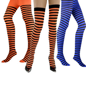 Adult Striped Tights