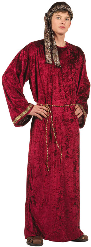 Adult Wine Velvet Wiseman Costume