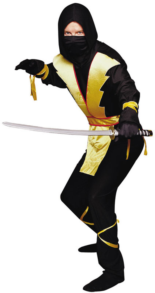 Adult Yellow Ninja Master Costume
