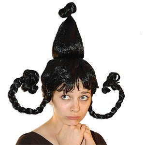 Black Whoville Who Costume Wig With Braids