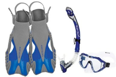 Body Glove Cirrus Purge Mask, Snorkel and Fins Set