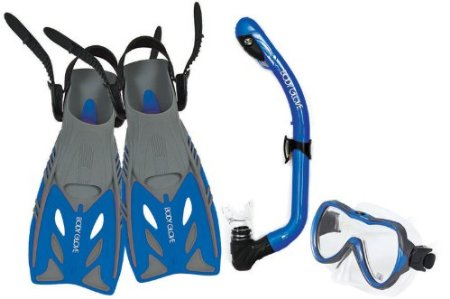 Body Glove Jr. Lucent II Mask, Snorkel and Fins Set