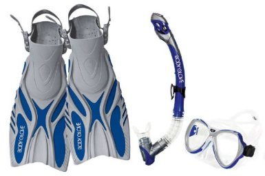 Body Glove Lucent XP Mask, Snorkel and Fins Set