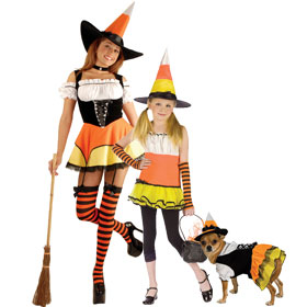 Candy Corn Witch Costumes
