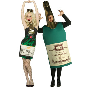 Champagne Bottle Costumes
