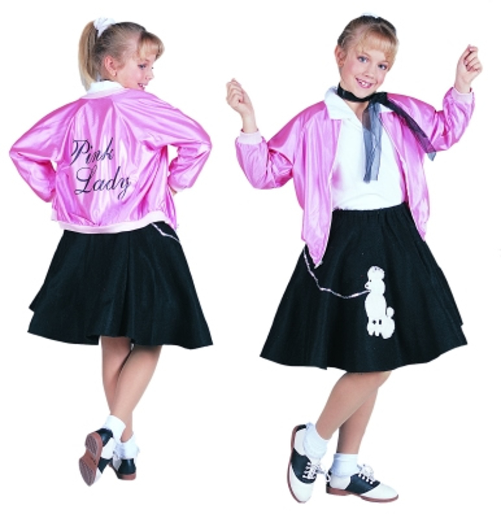 Child 50u0027s Pink Lady Costume Jacket  sc 1 st  Brands On Sale : 50 costume  - Germanpascual.Com