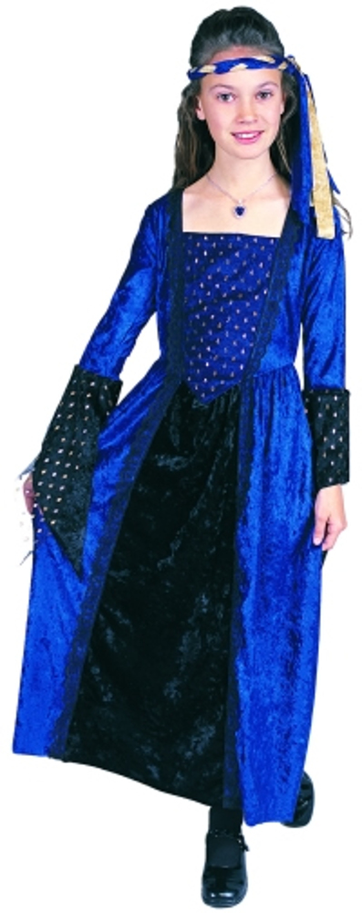 Child Blue Renaissance Girl Costume