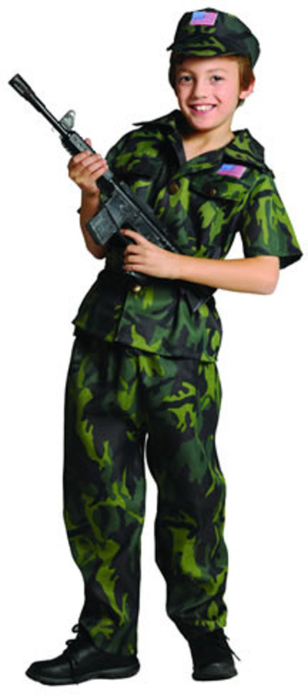 Child Camo Commando Costume