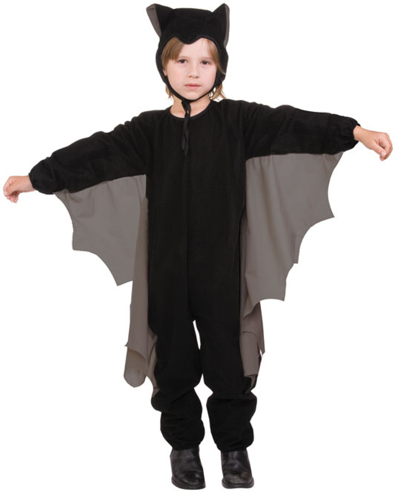 Child Cute-T-Bat Costume With Grey Wings