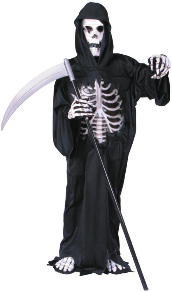 Child Dark Reaper Robe Costume With 3D Chest