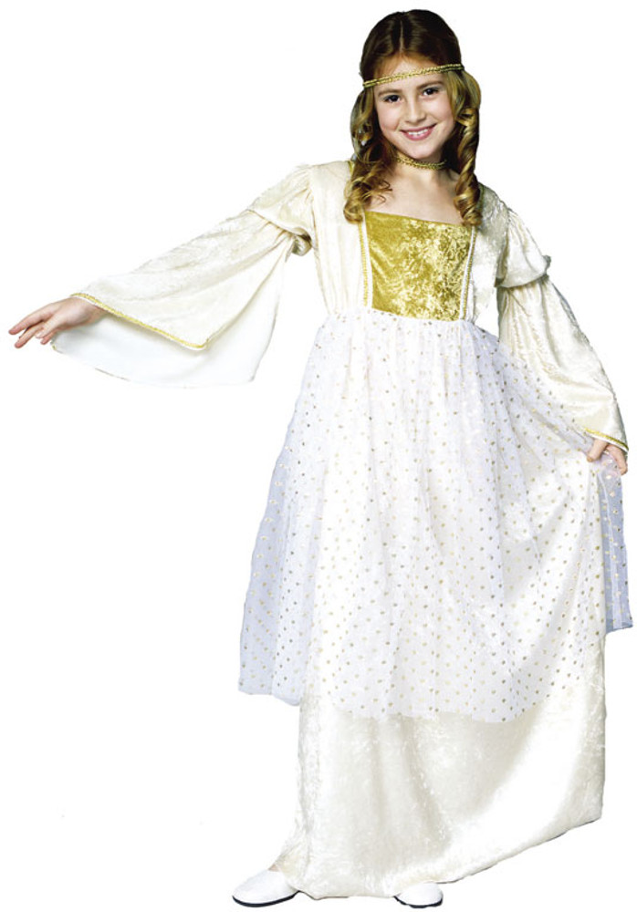 Child Gold Fairytale Queen Costume