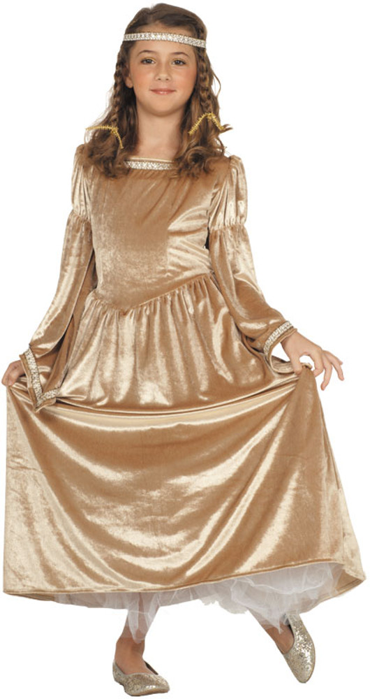 Child Gold Renaissance Bell Costume