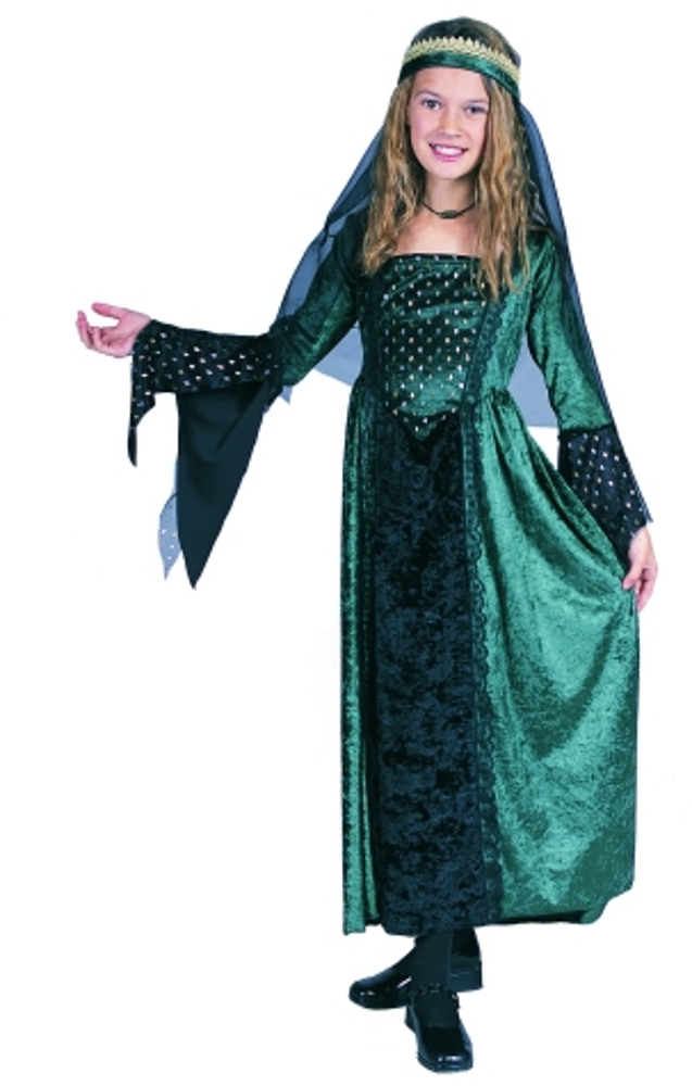 Child Green Renaissance Girl Costume