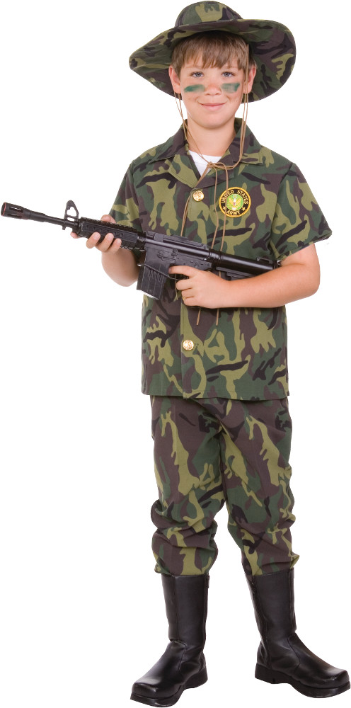 Child Jungle Commando Costume