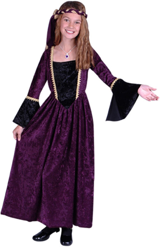 Child Purple Renaissance Girl Costume