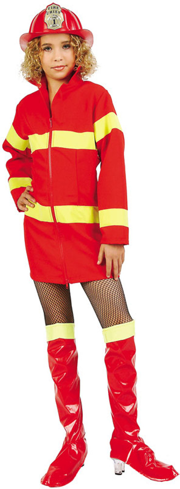 Child Red Fire Fighter Costume Dress