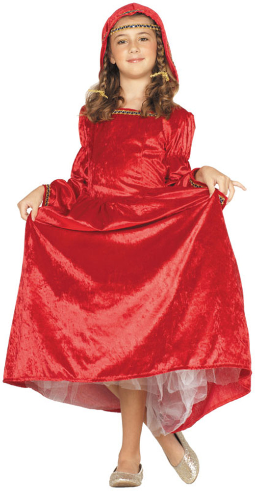 Child Red Renaissance Bell Costume