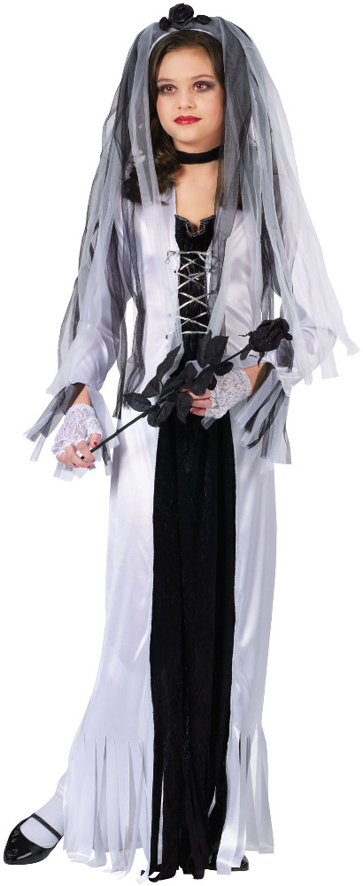 Child Skeleton Bride Costume