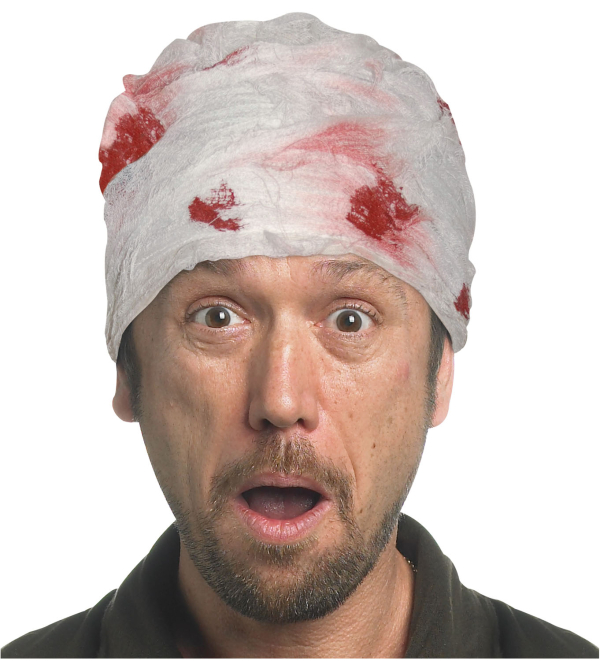 Clear Creepy Head Bandage