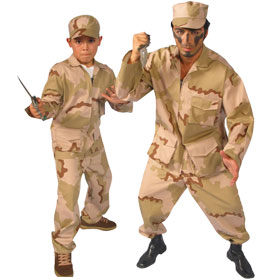 Desert Army Soldier Costumes