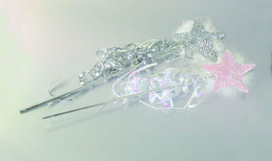 Fairy's Silver Sequin Wand