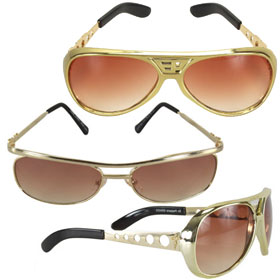 Gold Costume Glasses