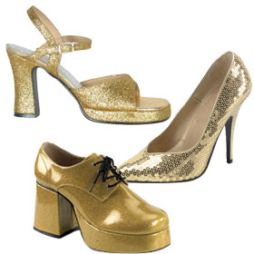 Gold Costume Shoes