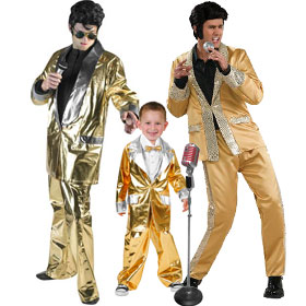 Gold Elvis Costumes