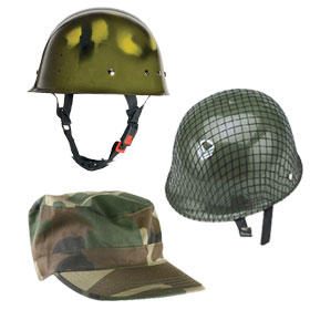 Green Army Hats
