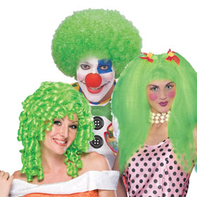 Green Clown Wigs