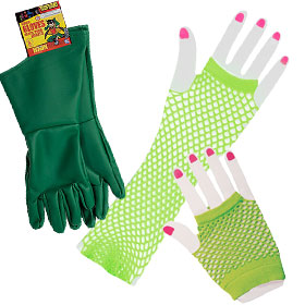 Green Costume Gloves