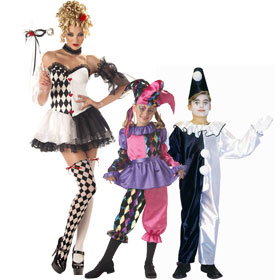 Harlequin Clown Costumes