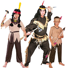 Indian Chief & Brave Costumes