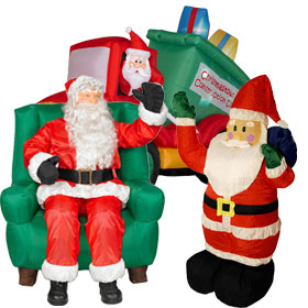 christmas inflatables inflatable santas - Cheap Inflatable Christmas Decorations