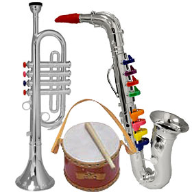 Kid's Toy Hand-Held Instruments