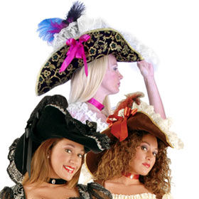 Lace Pirate Hats