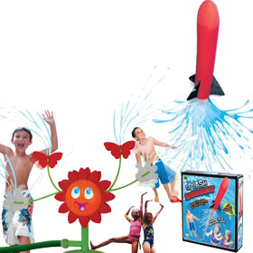 Lawn Sprinkler and Sprayer Toys