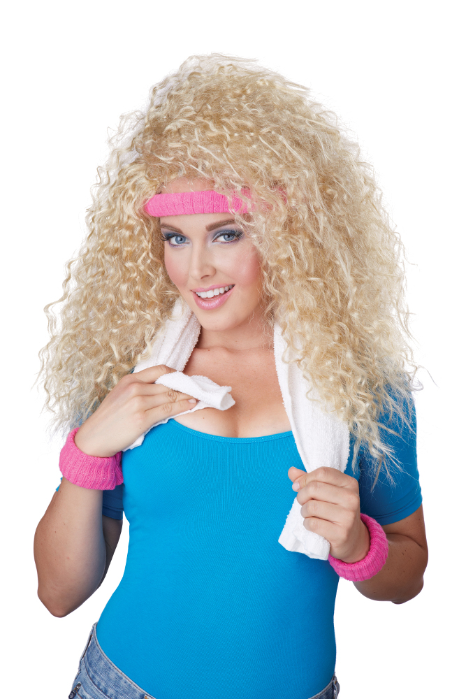 Let's Get Physical Wig, Headband & Sweat Band