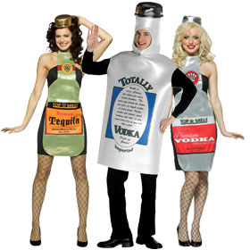 Liquor Bottle Costumes