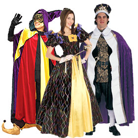 Mardi Gras Royalty Costumes