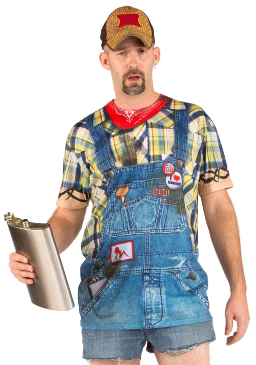 Men's Hillbilly Funny T-Shirt Costume