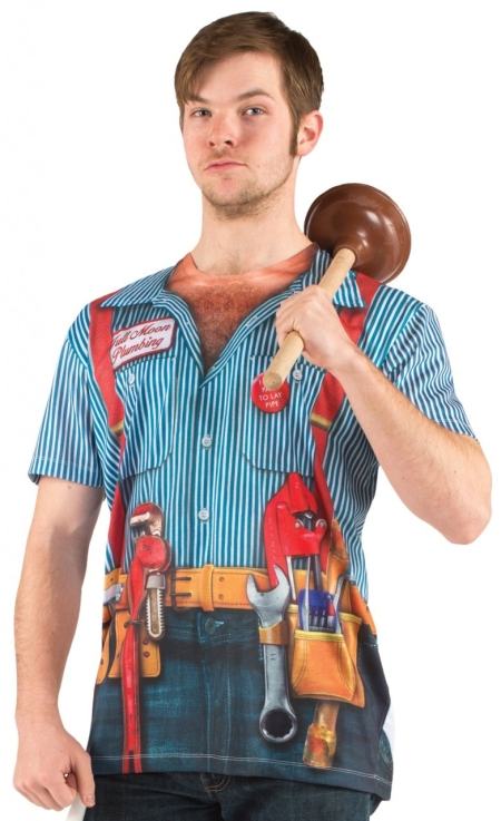 Men's Plumber Costume T-shirt