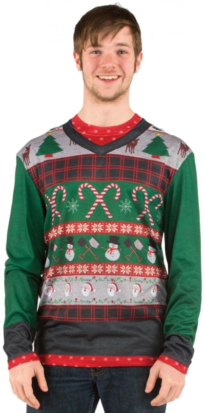 Men's Ugly Christmas Sweater Costume T-Shirt