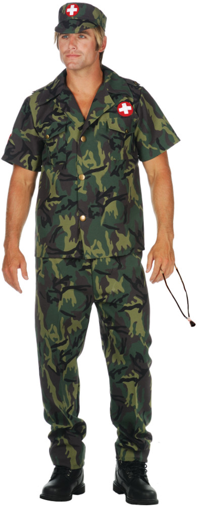 Mens Army Doctor Costume
